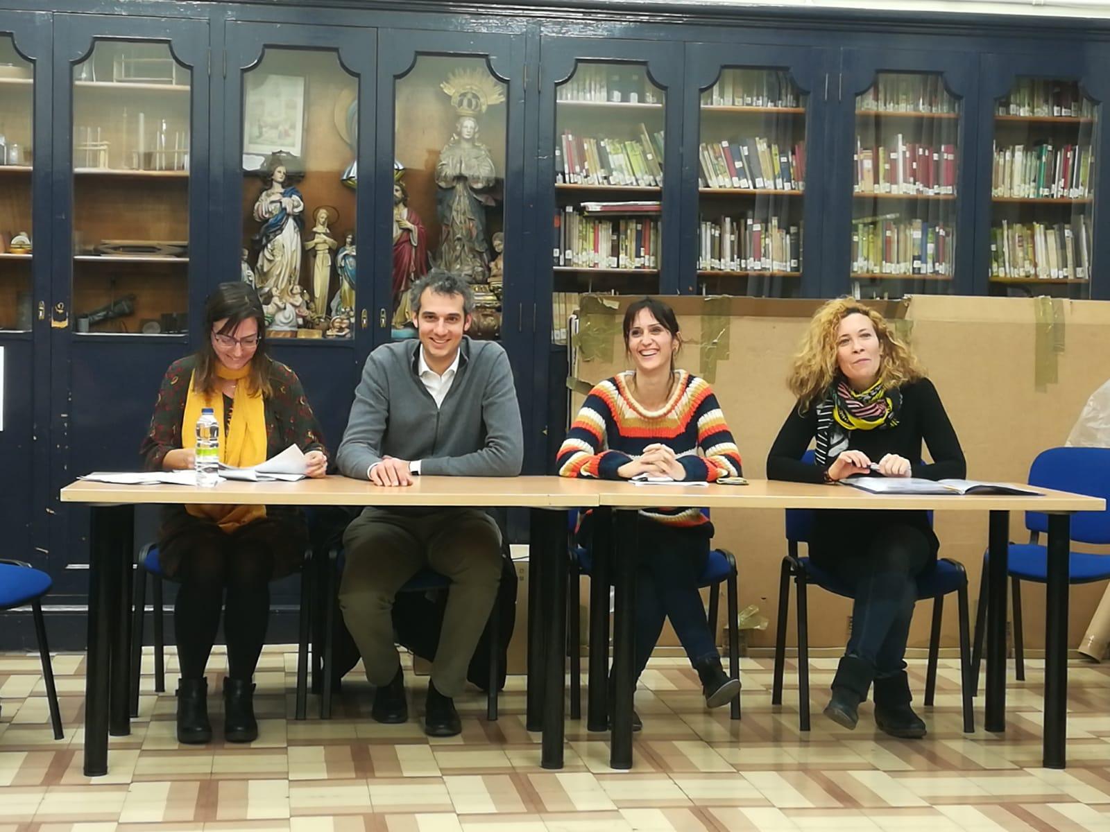 De izquierda a derecha, Vanesa Meseguer, Jesús Sanchez, Olga Algarate y Angelines Enfedaque